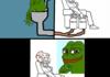 Pepe shits on wojak comic