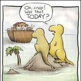 Looks like <b>dinosaurs</b> missed the boat