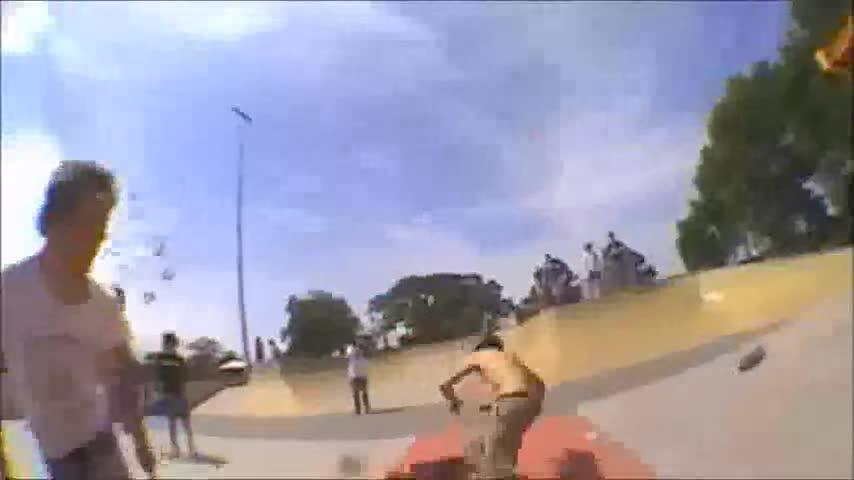 Boom Headshot. clip taken from a skater vs bogan fight at a aussie skatepark link: www.youtube.com/watch?v=Jv03hxQbkl4.. Where was the head shot?