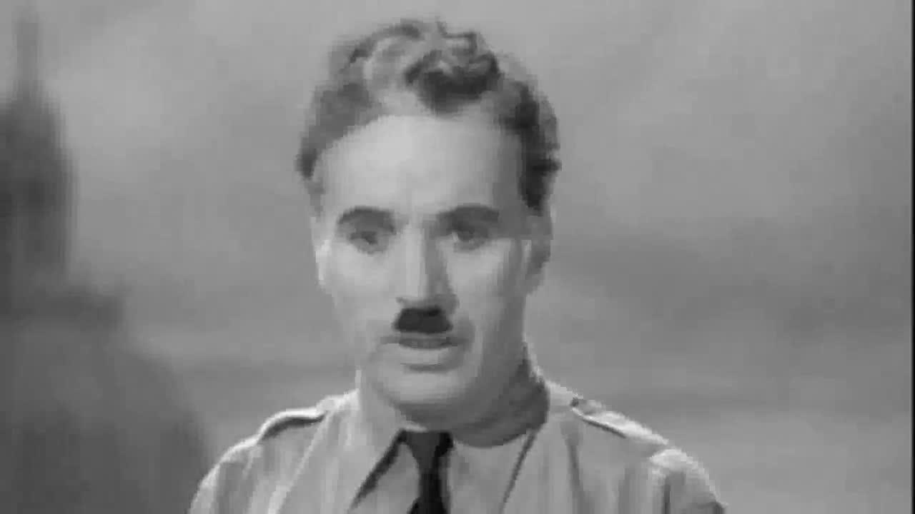 Charlie Chaplin's Greatest Speech Ever. .. Most famous speech on the internet, it seems