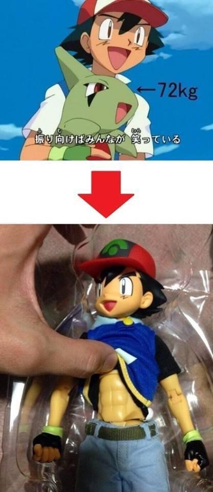 Daily reminder that ash lifts. he trains alright.. Ash liftem Ash Lift Pokemon Larvitar