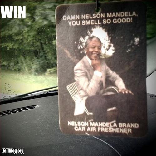Damn Nelson!. Damn Mandela you so fine! You so fine you blow my mind! Non OC!. nelson mandela air freshner win