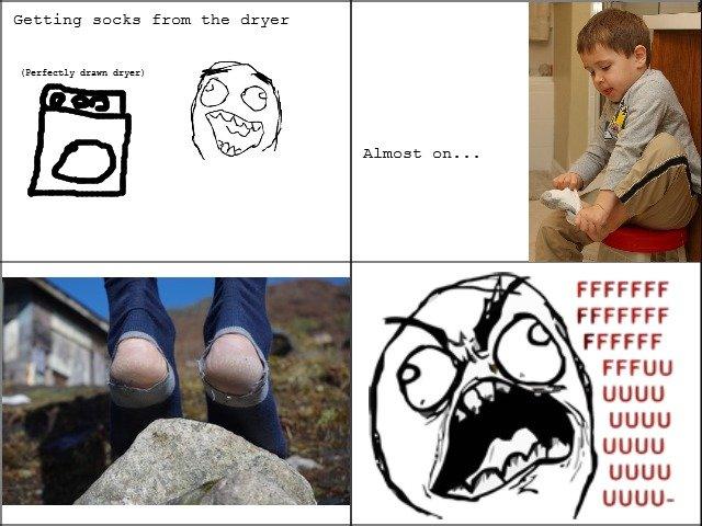 "Damn socks. Every single time. Tags are true.. Getting sacks fram the dryer drama drier) (ii'( iii"" i_ iii) FFCCFF i suck at making comics"