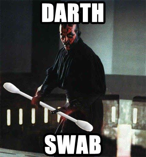 Darth Wat. True Story(?) Also, it's OC, says the dude next to me.. darth star wars Cotton swab