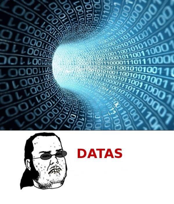 Datas. .. actually data is already plural... Datas actually data is already plural