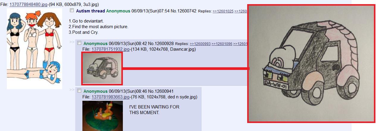 DA-WN-01. I cracked up.. File: 1370778848480) -(94 KB, 600x879, , jpg) Autism thread Anonymous ( Sun) Replies: 312501025 #1250 1. 60 to deviantar the most autis Autism