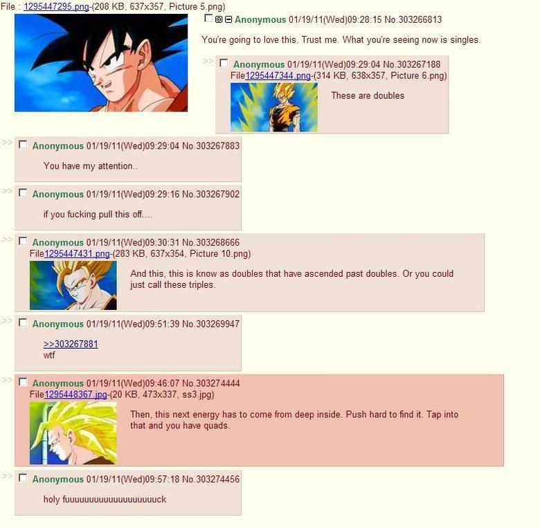 DBZ Ascension Rollz. Old 100% Not OC. dbz Goku super saiyan chan dubs trips quads WTF epic