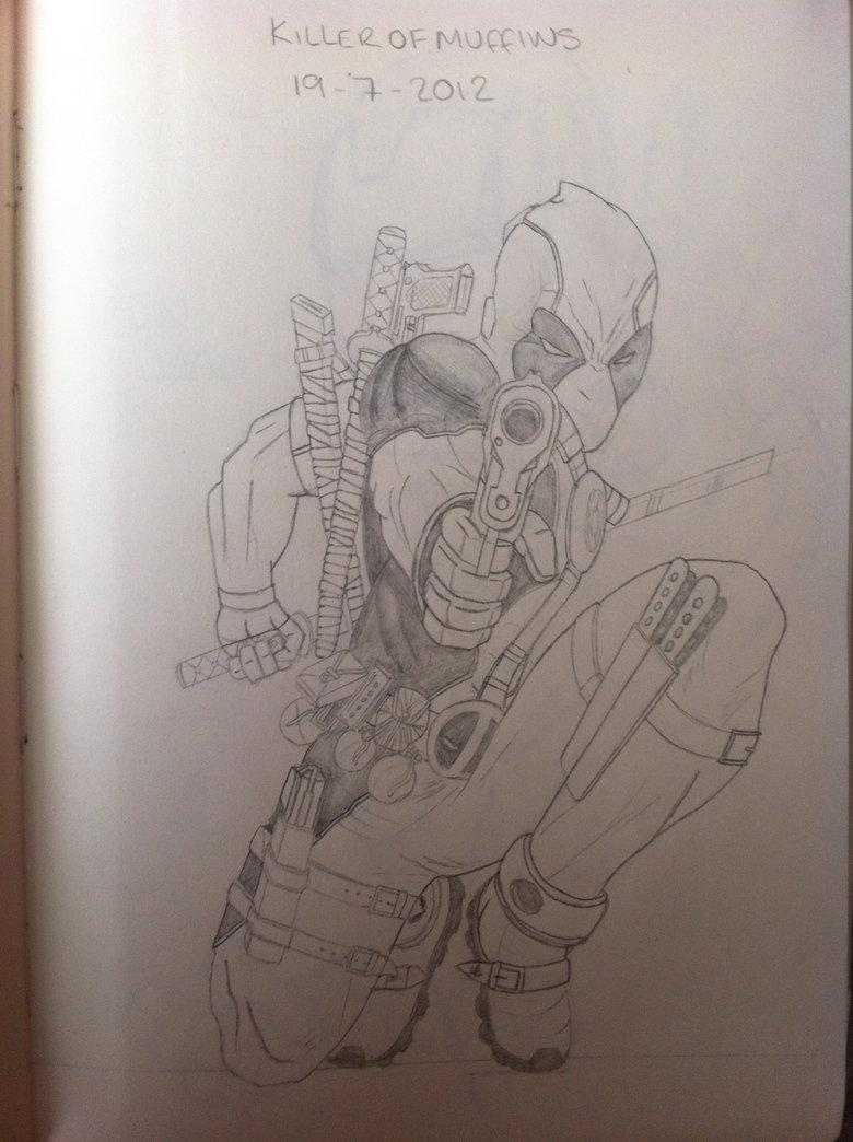 Deadpool sketch. .. Muffins? Deadpool game fuck yeah
