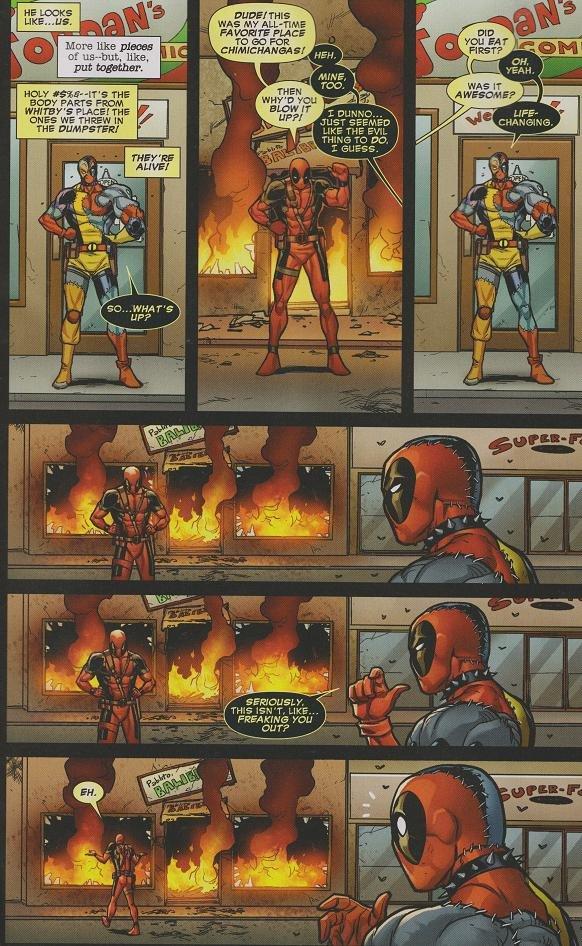Deadpool vs. Evil Deadpool. Even the Chimichangas aren't safe... idm 50 FDR s: like plains; BMW like. Wma-', we THREW m JUST SPAMED THING TID DD. 1 an I mu. next page Deadpool vs Evil Even the Chimichangas aren't safe idm 50 FDR s: like plains; BMW Wma-' we THREW m JUST SPAMED THING TID DD 1 an I mu next page