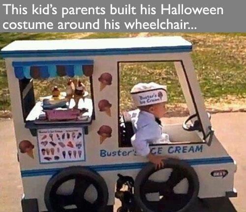 DEM FEELS. . This kid' s parents built his Halloween. D'aww that's....sweet DEM FEELS This kid' s parents built his Halloween D'aww that's sweet