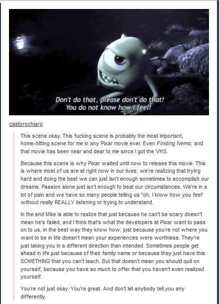 dem feels. . caste re chia re: This scene okay. This fucking scene is ere my the mast men rta , heme's itting scene fer me in any Pixar ever. Even Finding Meme, dem feels caste re chia re: This scene okay fucking is ere my the mast men rta heme's itting fer me in any Pixar ever Even Finding Meme