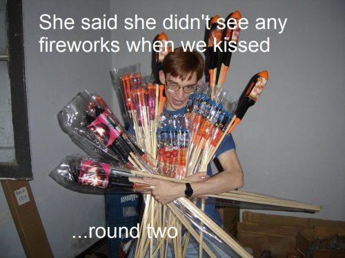 Determination. So romantic. She said she didn' t_ _ e any fireworks whern we. hfw Determination So romantic She said she didn' t_ _ e any fireworks whern we hfw