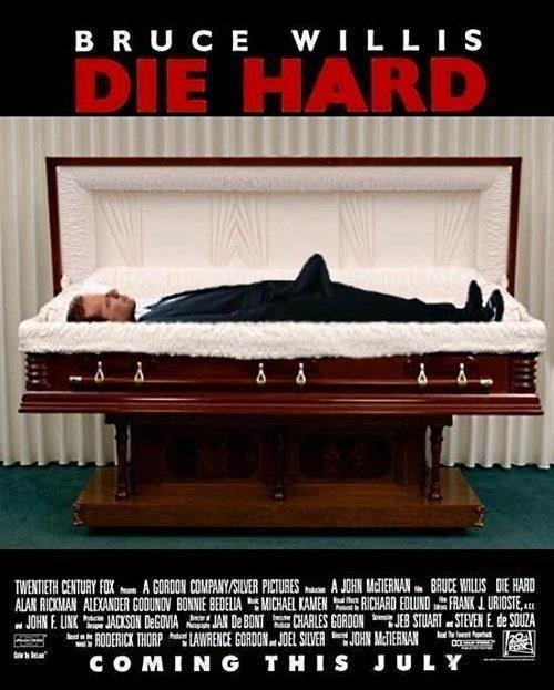 "Die Hard. lol'd hard. BRUCE WILLIS WHEY G an "") ) EUETEEHEE in fl Mt n. WEI WM HIE mu mo Willi HERE [WEI talt: Bilall) A' L ( u m l HIE 'ENE! BEGUM tra', Al WHE Im Hard"