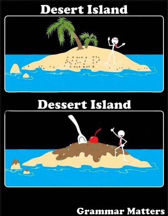 Difference. . Desert Island Grammar Matters. Grammar =/= Spelling Difference Desert Island Grammar Matters =/= Spelling