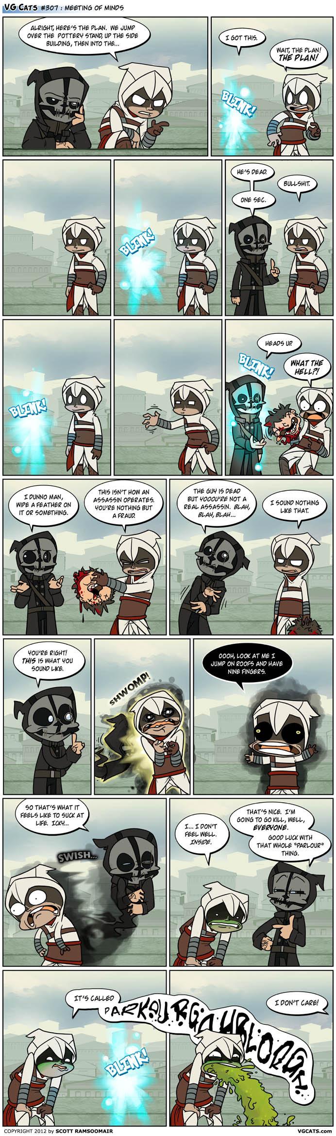 Dishonored Assassin. Source: VG Cats - www.vgcats.com/.. assassins are still badass.. badassassins vg cats dishonored assassins creed