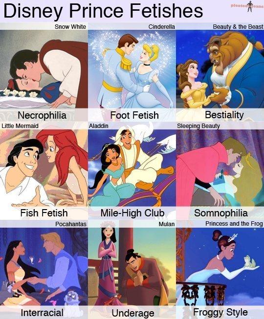 Disney Fetishes. Some Disney Fetishes. Not OC but hilarious. EnJoY!. Disney Prince Fetishes Sum White Frill and the Flag I Interracial g! tat! ! 4 - From?' Styl Disney princess Fetish