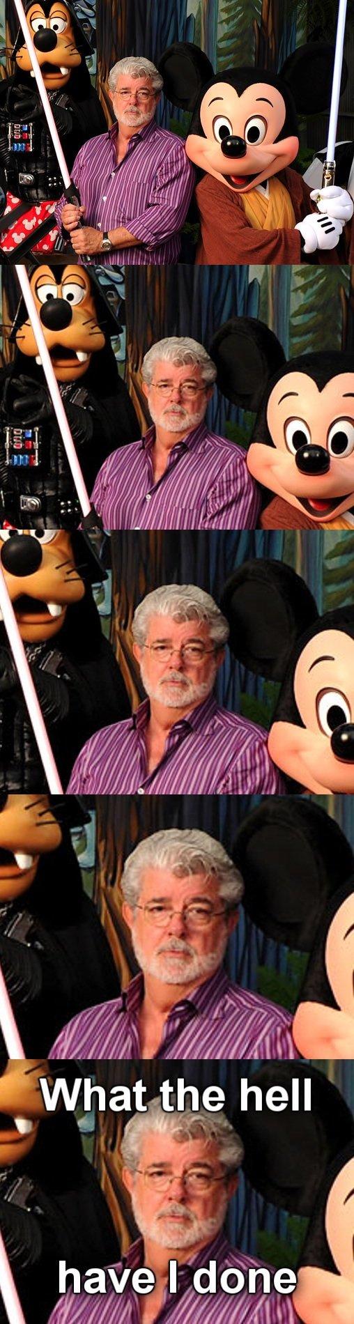 Disney. . iai, t,? hell. I just realized... Since Disney owns Starwars and Disney owns Disneyland... STAR WARS ROLLERCOASTER! YEAH! Disney iai t ? hell I just realized Since owns Starwars and Disneyland STAR WARS ROLLERCOASTER! YEAH!