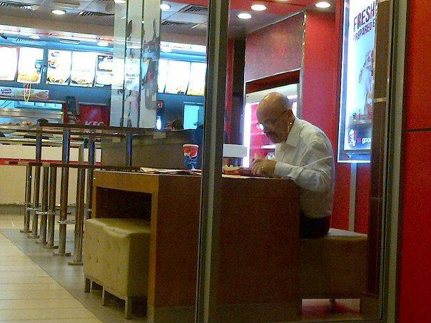 Disregard Los Pollos Hermanos. Acquire KFC. He is working for Kernel Sanders now... I think ya mean Colonel Sanders, chief. heisenberg walter white gus fring