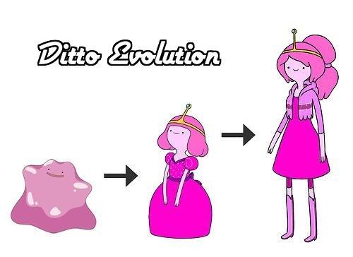Ditto Evolution. meh. ditto evolution Pokemon Adventure Time pink