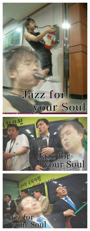 Do you feel it?. .. imagine that dude got a mouth full of extinguisher foam Asian Music feeling funny amusing