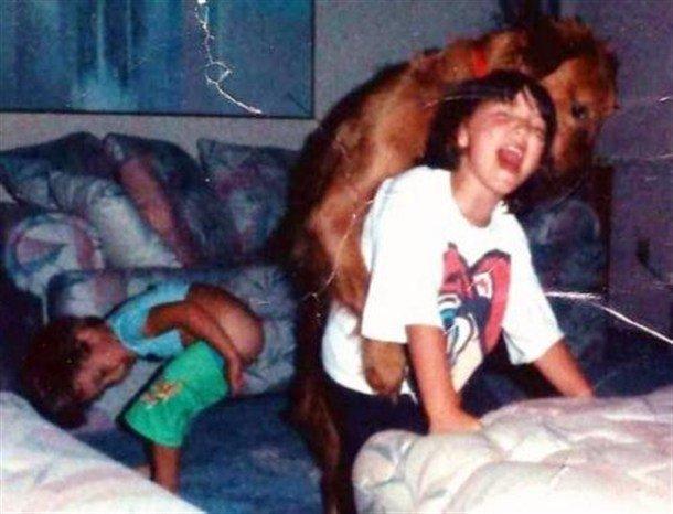 Dog Rape. Wait...what are you doing boy?!.....NOOOOOOOOO!!!.. the girl or boy in the back wants it dogrape Dog Rape hump boy