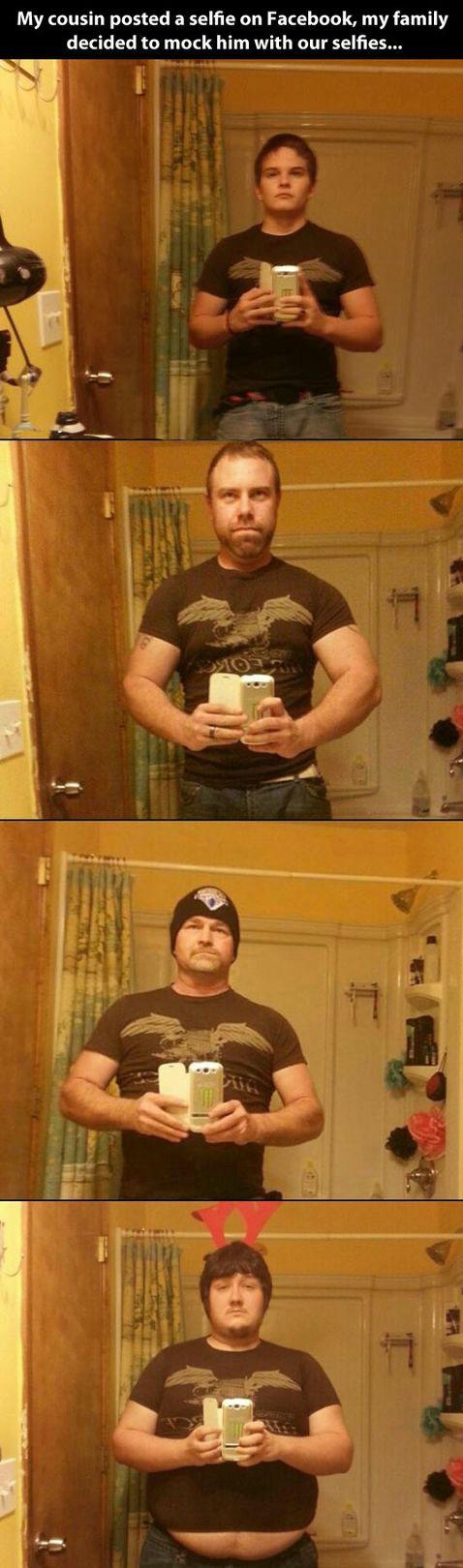 Don't do selfies, kids. . Don't do selfies kids