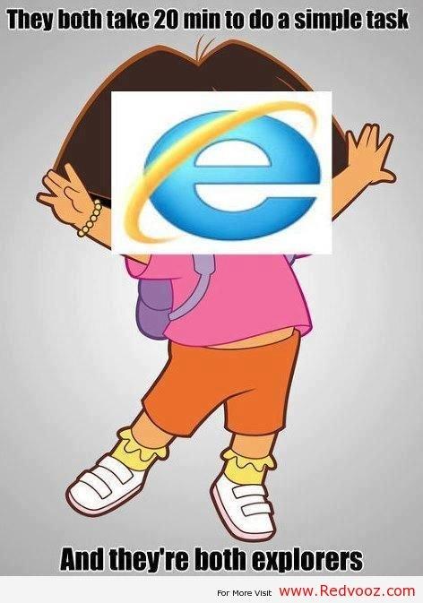 Dora the Explorer and Internet Explorer. Dora the Explorer and Internet Explorer. com dora funny dora Dora the Explore internet explore