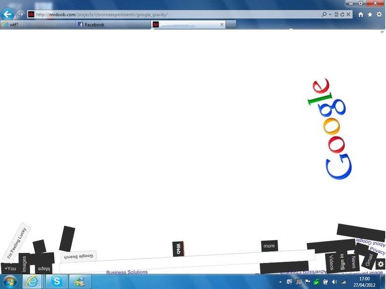 Dropped a nokia on my google :/. OC.. i think the fact you used internet explorer broke google....the nokia was overkill google nokia