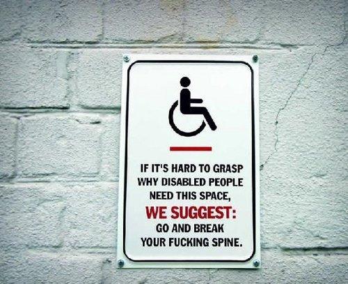 Handicap Parking. check out ym profile for more!. man nus swat. WE SURGE!' no min max disapled handica