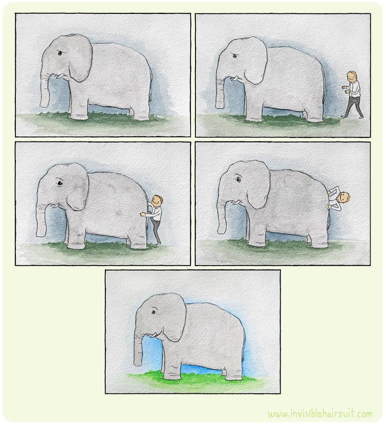happy elephant. wut? invisiblehairsuit.com. happy elephant wut? invisiblehairsuit com