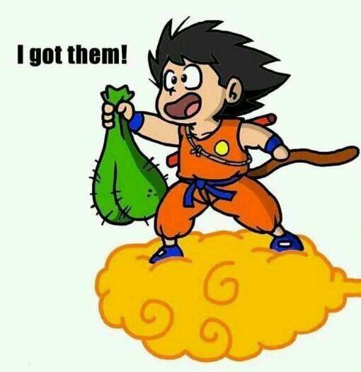 He Found The Dragon Balls. . db dbz