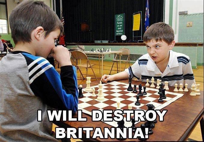 Heil Brittania. .. Lelouch's face when he does code geass