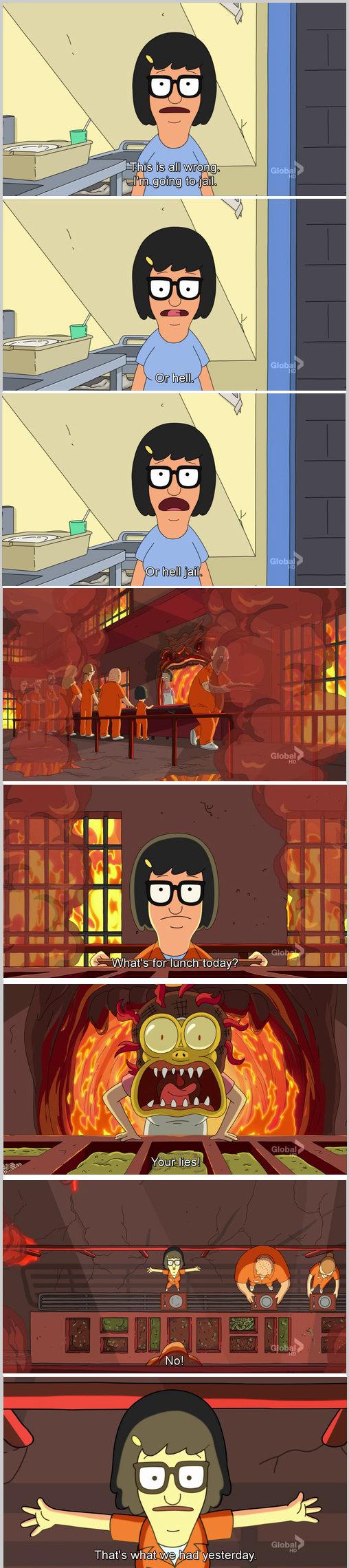 Hell Jail. Bob's Burgers caption... Pretty much my reaction to FJ frontpage. Hell Jail Bob's Burgers caption Pretty much my reaction to FJ frontpage
