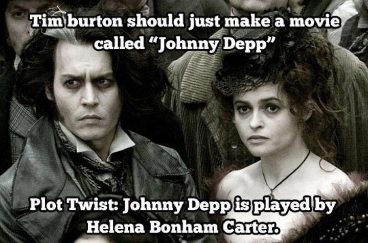 Here's Johnny. . Plot Twist: Johnny Deni» . . Helena Batman Carter.. I really need to do my homework Here's Johnny Plot Twist: Deni» Helena Batman Carter I really need to do my homework