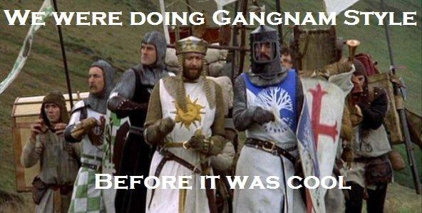 Hipster Knights. Warning: Original Content.. no Gangnam stlye Monty Python