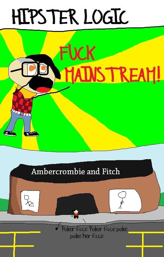 Hipster Logic. Hipsters make no sense!!!. hipster hip logic comic comics webcomic ambercrombie Fitch poker face skrillex hair