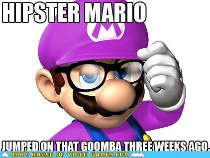 hipster mario. credit to bobshouseofvideogames.com. Video Games Mario hipster