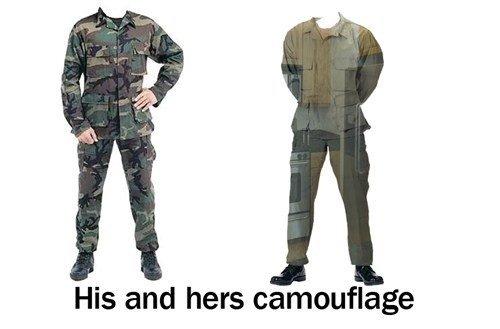 His and hers camouflage. . His and hers camouflage His and hers camouflage