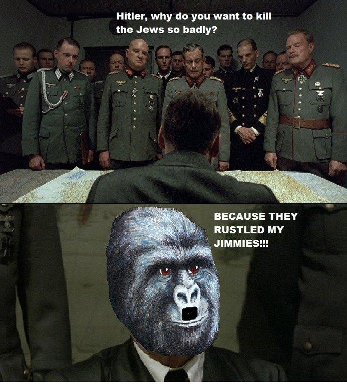Hitler. .. a thumb was given Hitler a thumb was given