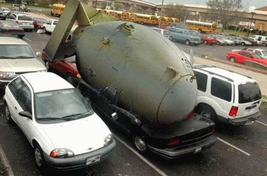 Holy Shit That Was Close. .. photoshopped. Bomb car Nuke