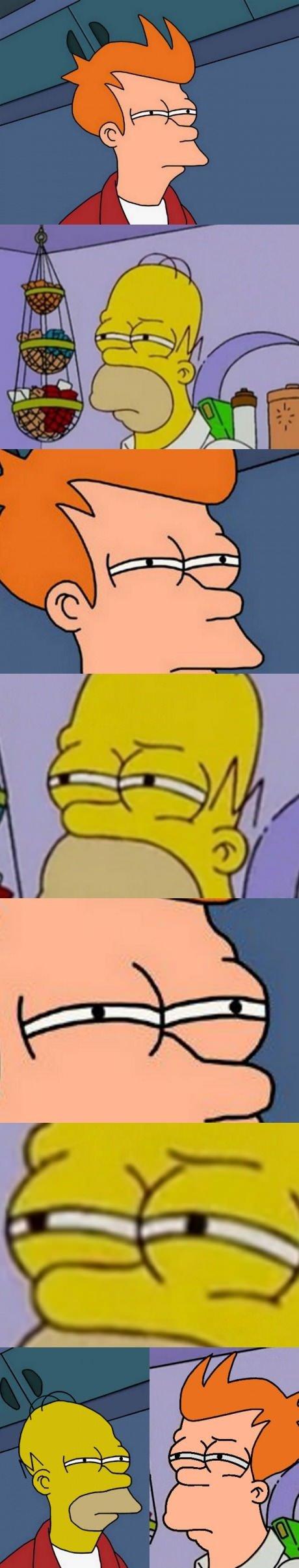 Homer VS Fry. . Homer VS Fry