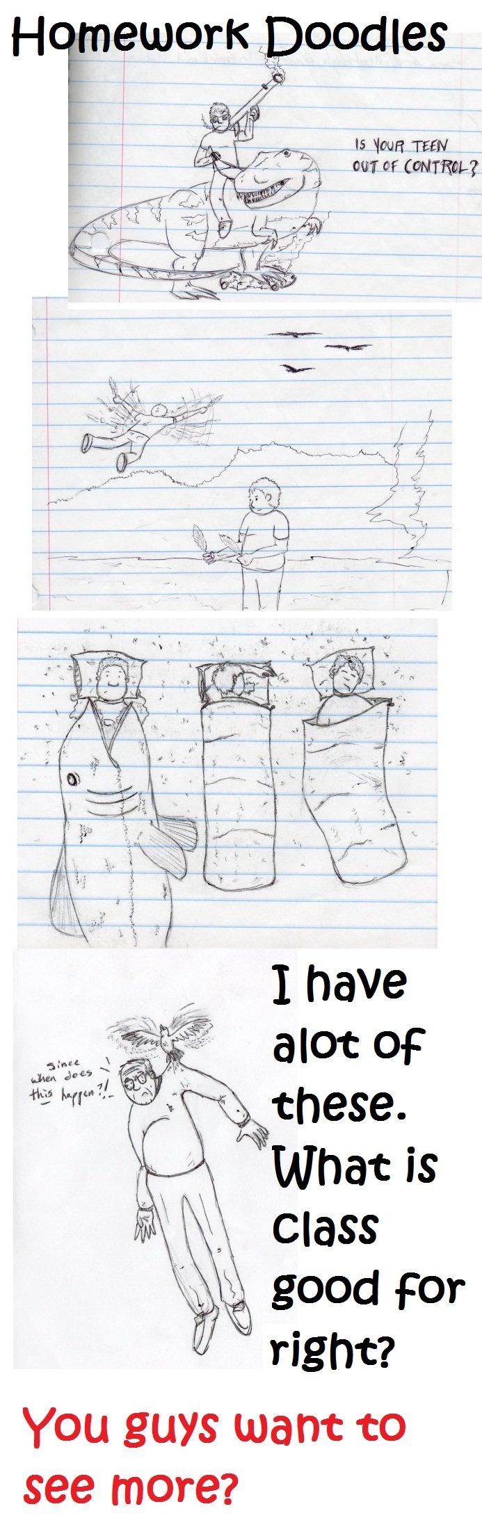 "Homework Doodles.. Did somebody say ""alot""? ^^^^ warkoch homework Doodles"