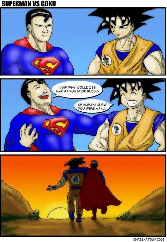 How Goku Versus Superman Would Really Go. . EDDIE: dbz Superman