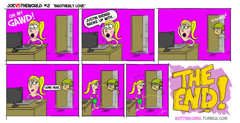 How to deal with a Justin Bieber fan.. rottencomix.tumblr.com. funny lol lolz comic Comic Strip Bieber MEMES meme