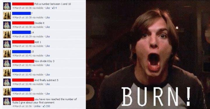 How to troll. . burn