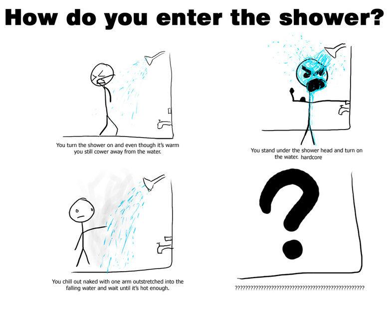 """How do you enter the shower. How do u enter the shower?. How do you enter the shower? We turn the shamer an and even mam iitt warm Wu still En."""" -Er aw"""" [mm the Shower bathroom"""