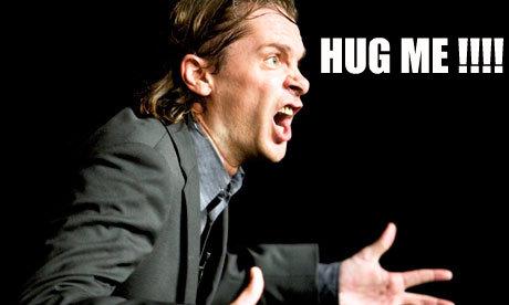 Hug Me !. Thumbs up people. Hug me