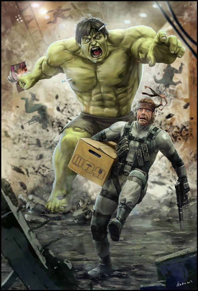 Hulk chasing a snake. Poor little snake.... Hulk chasing a snake Poor little
