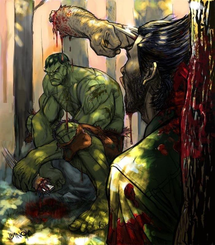 Hulk vs Wolverine. .. He's gonna be real cranky when he comes to Hulk vs Wolverine He's gonna be real cranky when he comes to