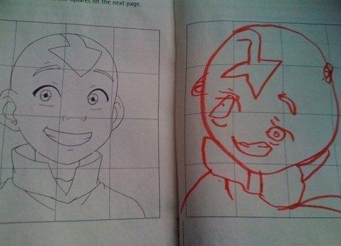 hurr duurrr.. how did you get m. night shamalan's sketchbook? avatar cartoon
